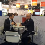 Aluminium Exhibition 2016 - AluMag Booth Meeting - Aludium Mr. Bob Van Cauwenberghe & AluMag Mr. Jesper Larsen