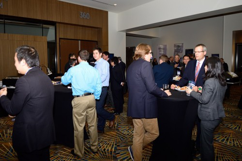 Networking At Evening Octoberfest Reception