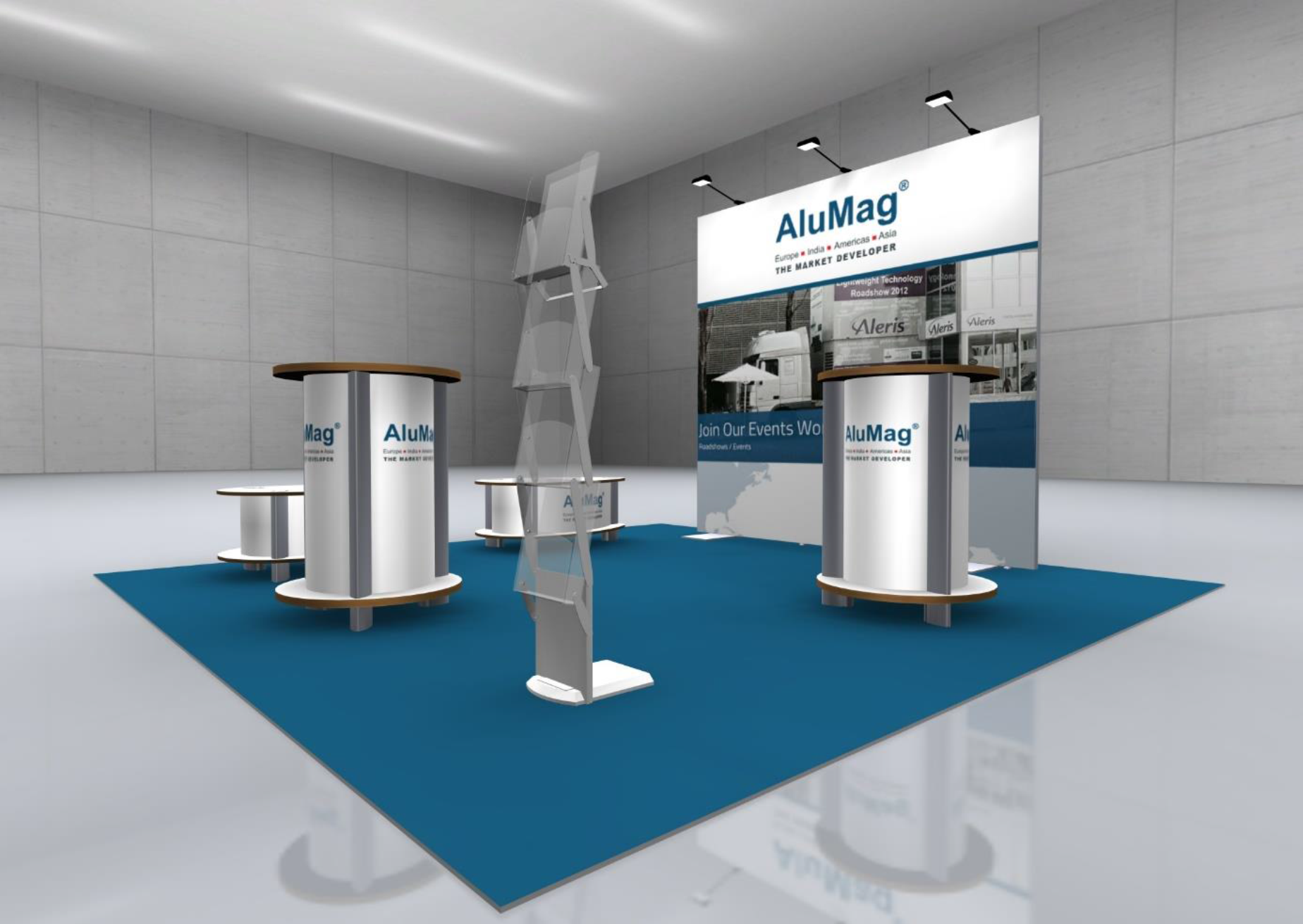 Symposium AluMag Booth System Concept II 1